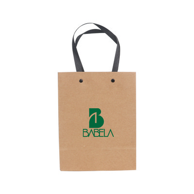 Picture of Small Vertical Paper Bag with Knitted Handle(170 x 220 x 100mm)