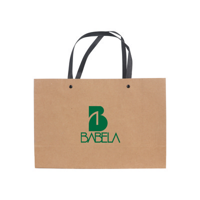 Picture of Small Crosswise Paper Bag with Knitted Handle(250 x 170 x 90mm)