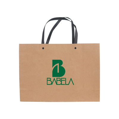 Picture of Large Crosswise Paper Bag with Knitted Handle(420 x 300 x 120mm)