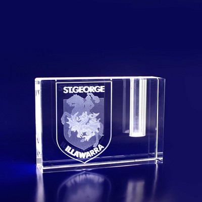 Picture of 3D Crystal Pen Holder award