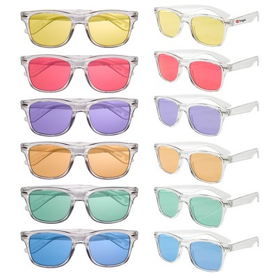 Picture of Clear Sunglasses with Coloured Lens
