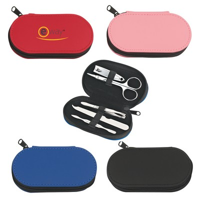 Picture of 5-Piece Leather Look Manicure Set