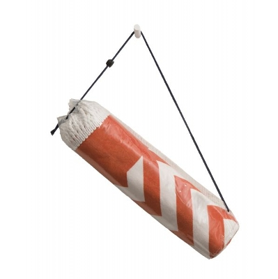 Picture of PVC Cylinder bag with toggle and drawstring.
