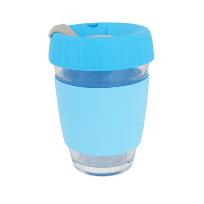 Picture of 12 OZ  Reusable Glass Coffee Cup
