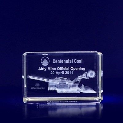 Picture of 3D Crystal Rectangle award / paperweight
