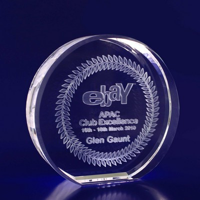 Picture of 3D Crystal Round award / trophy