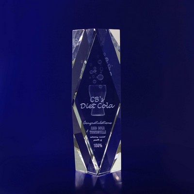 Picture of 3D Crystal Rectangle Special Bevel award / trophy