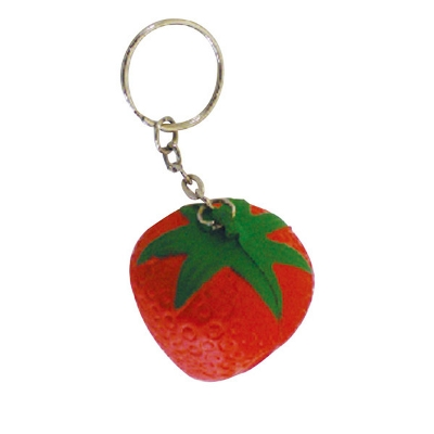 Picture of STRESS STRAWBERRY KEY RING