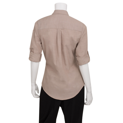 Picture of Ladies Chambray Ecru Shirt