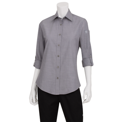 Picture of Ladies Chambray Grey Shirt