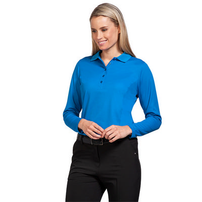 Picture of Sporte Leisure Ladies Long Sleeve Aero Polo Shirt