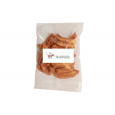 Picture of 30g Soya Crisp bag with label