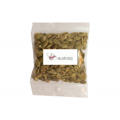 Picture of 50g Pumpkin Seed bag with label