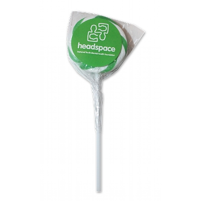 Picture of Green & White Swirl Lollipops - 40mm dia