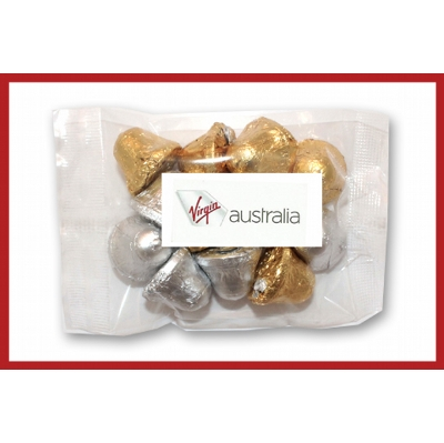 Picture of Christmas bells 100g cello bag with label