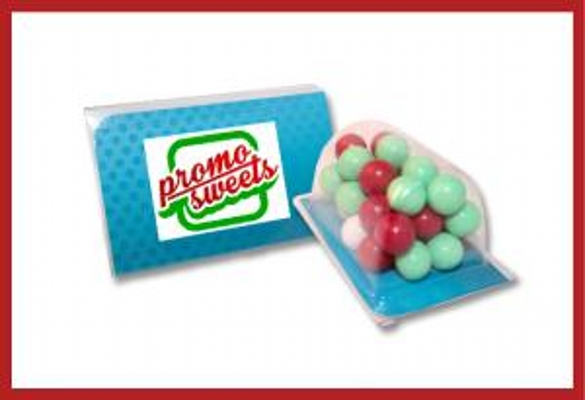 Picture of Biz card treat with Christmas choc balls