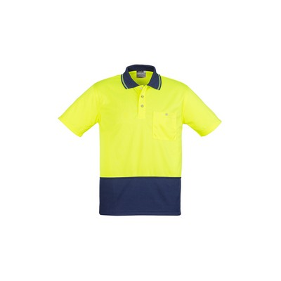Picture of Unisex Hi Vis Basic Spliced Polo - Short Sleeve