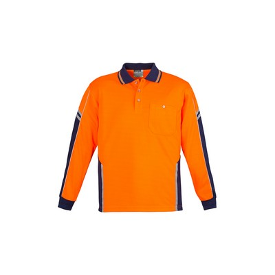 Picture of Mens Hi Vis Squad L/S Polo