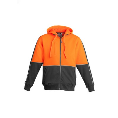 Picture of Mens Hi Vis Full Zip Hoodie