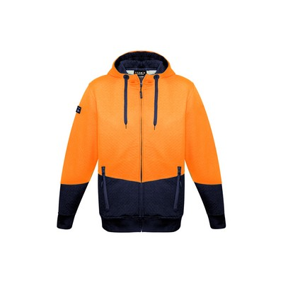 Picture of Unisex Hi Vis Textured Jacquard Full Zip Hoodie