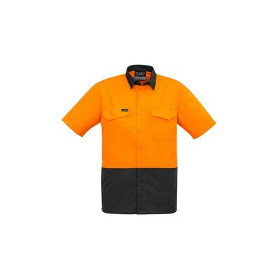 Picture of Mens Rugged Cooling Hi Vis Spliced S/S Shirt