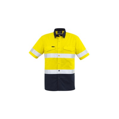 Picture of Mens Rugged Cooling Taped Hi Vis Spliced S/S Shirt