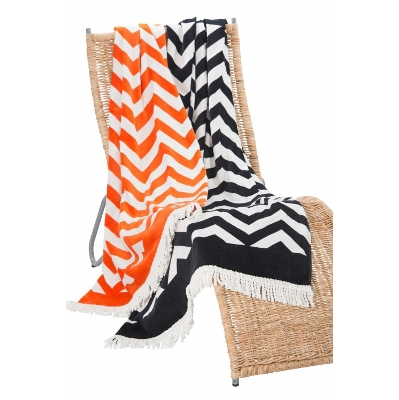 Picture of Zig Zag Beach Towel with fringing