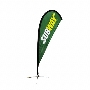 Tear Drop Flag-Single Sided 3500mm(h)