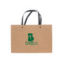 Small Crosswise Paper Bag with Knitted Handle(250 x 170 x 90mm)