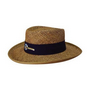 Straw Sports hat with material under the brim