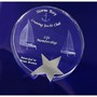 3D Crystal Star Round award / trophy