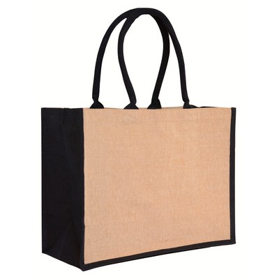 Picture of Contrast Black Laminated Juco Supermarket Bag (Warehouse Stock)